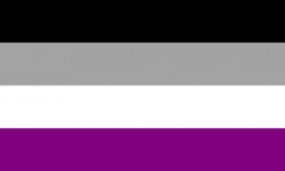 Flagge Asexualität