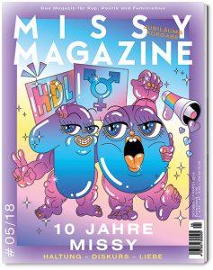 Zeitschriftencover der zehnjährigen Ausgabe des Missy Magazines