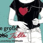 Zeichnung junges Mädchen mit Angelhaken im Herzen