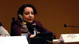 die jemenitische Menschenrechtsaktivistin Rasha Jarhum vor dem UN-Sicherheitsrat