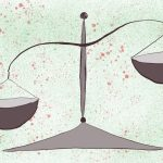 Eine Waage mit Ungleichgewicht