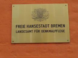 Schild Landesamt für Denkmalpflege