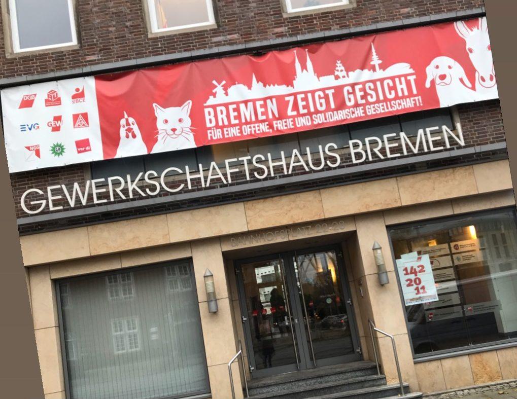 Eingang Gewerkschaftshaus Bremen
