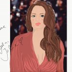 Zeichnung von Angelina Jolie