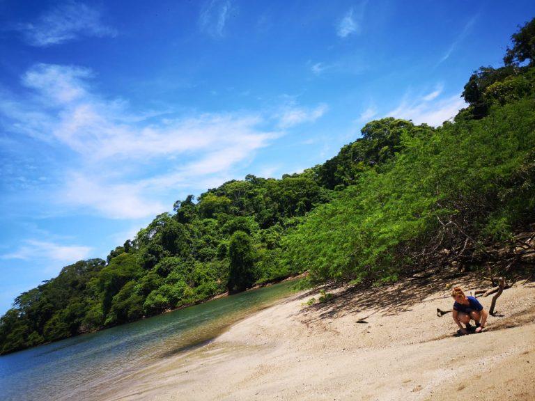 Blauer Himmel Strand Costa Rica