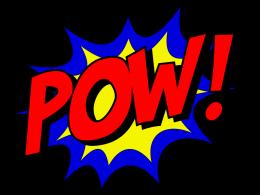 """Comic-Schriftzug """"POW!"""""""
