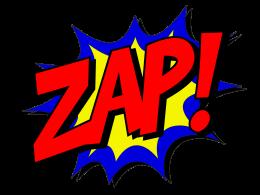 """Comic-Schriftzug """"ZAP!"""""""