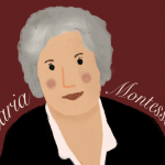 Illustration von Maria Montessori