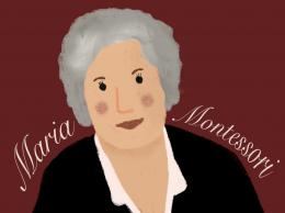 Illustration von Maria Montessori