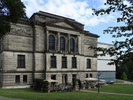 Rückansicht der Fassade der Kunsthalle Bremen