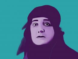 Illustration von Huda Shaʿrawi, ägyptische Frauenrechtlerin und Gründerin der Ägyptischen Feministischen Union.
