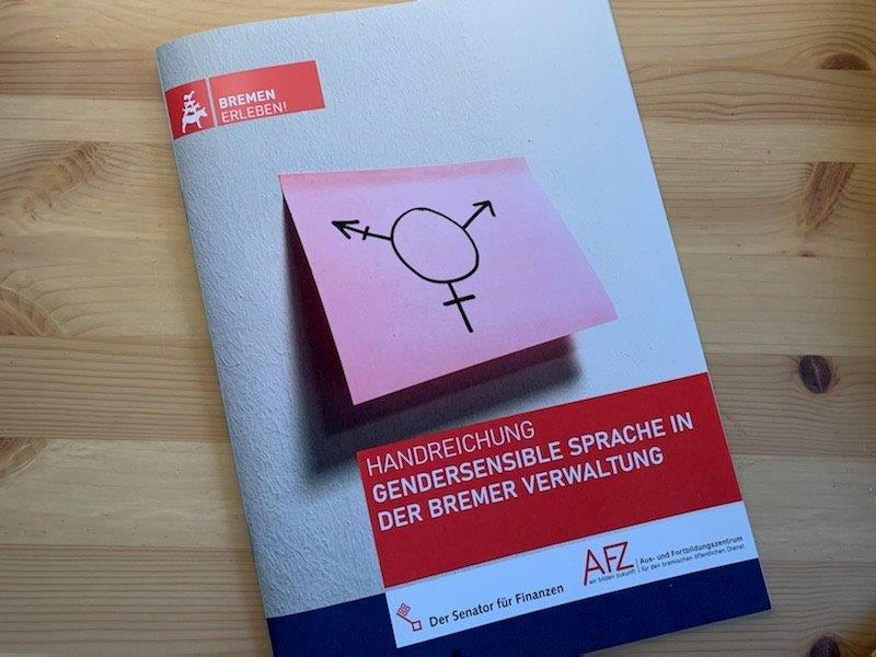 Abbildung der Broschüre Handreichung Gendersensible Sprache