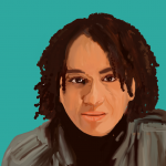 Illustriertes Portrait von Tupoka Ogette.