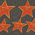 Zeichnung von fünf Sternen auf dem Walk of Fame auf denen Dua Lipa, Lady Gaga, Marina, Ariana Grande und Beyoncé steht