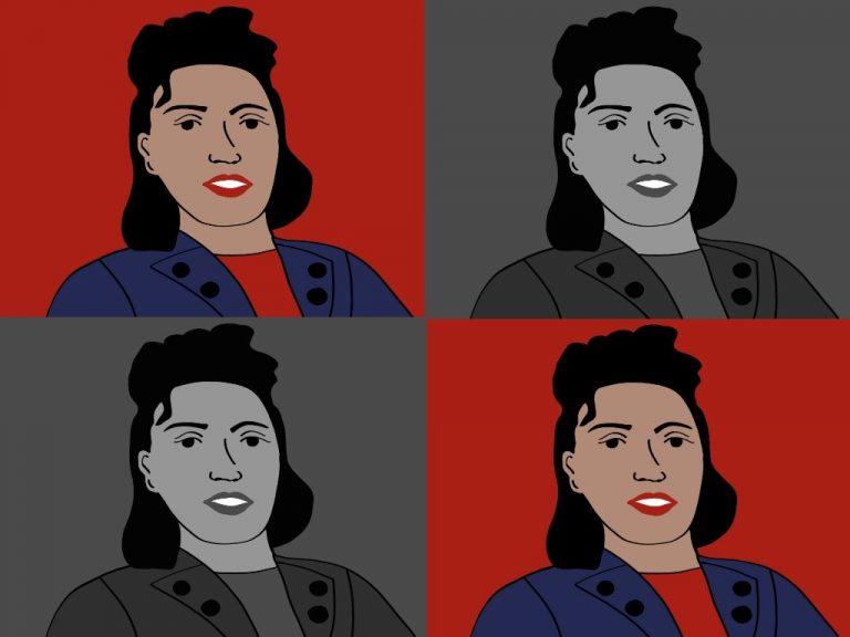 Henrietta Lacks als Illustration, vier mal in Quadraten
