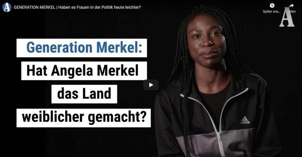 Neben einer Frau steht die Frage ob Angela Merkel es leichter für Frauen in der Politik gemacht hat