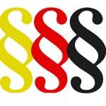 3 Paragrafensymbole in schwarz rot gold