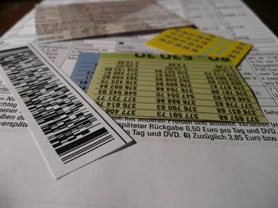 Strichcode und Zahlen