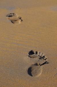 Fussspuren im Sand