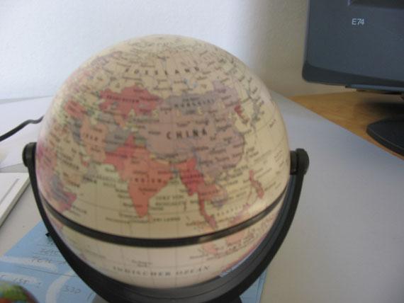 Globus, Asien