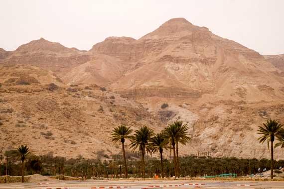 Berge in der Wüste mein Toten Meer in Israel