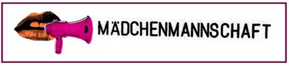 """Logo der Mädchenmannschaft: Mund mit pinkem Megaphon davor, rechts daneben der Schriftzug """"Mädchenmannschaft"""""""