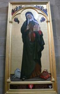 Gemälde/Ikonenmalerei von Agnes von Böhmen  Malerei, Frau