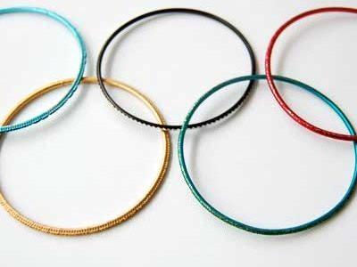 Olympia Ringe aus Armschmuck