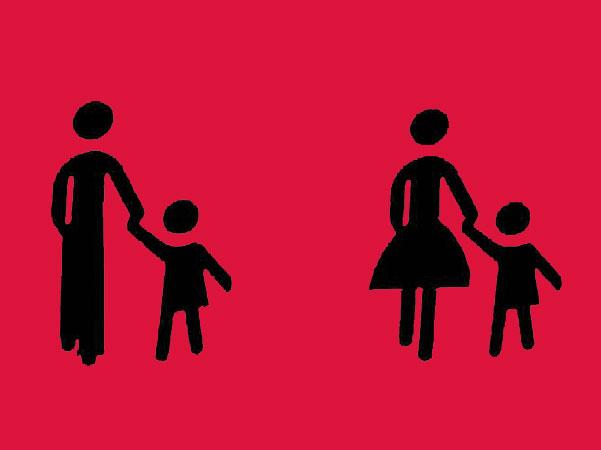 grafik mutter mit kind und vater mit kind