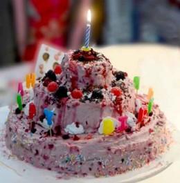 Geburtstagstorte mit Kerze