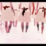 Tanzende von hinten