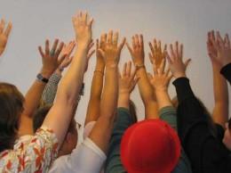 jubelnde Hände