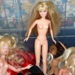 nackte Barbiepuppen