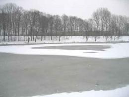 Kleine Weser Winter schwarz weiß